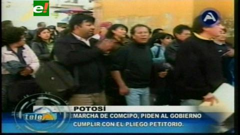 Cívicos potosinos retoman la movilización por el pliego regional de 2010