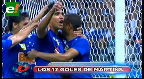 Marcelo Martins estira su racha goleadora en Cruzeiro