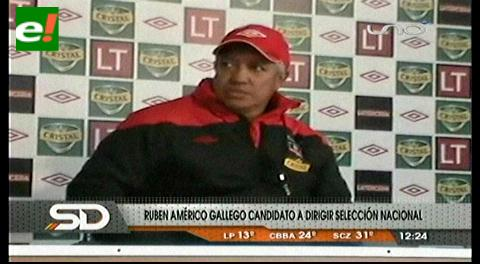 Gallego espera una respuesta para dirigir selección de Bolivia