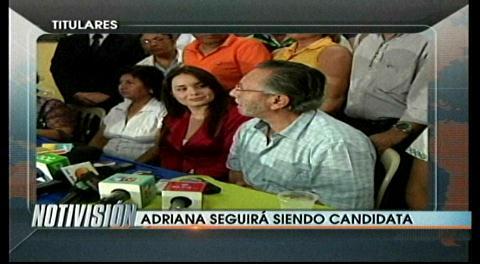 Titulares: Juan del Granado afirma que Adriana Gil seguirá siendo candidata