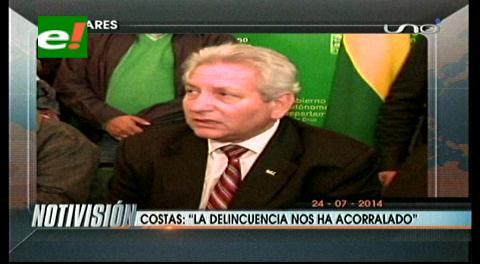 Titulares: Rubén Costas asegura que la delincuencia acorraló a Santa Cruz