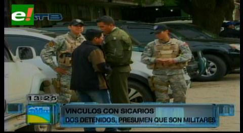 Detienen a supuestos militares vinculados con sicarios