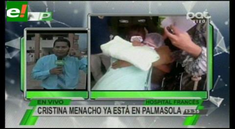 Trasladaron a Cristina Menacho a Palmasola