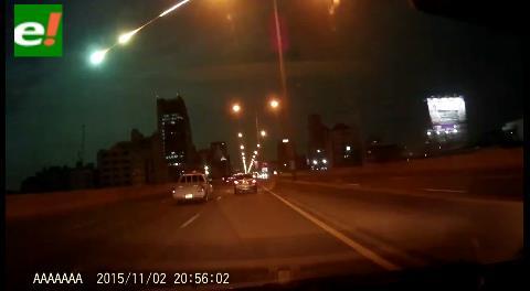 Un meteorito iluminó el cielo de Tailandia