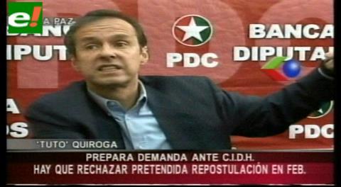 """Jorge Quiroga dice que Evo """"sufre de un ataque de mitomanía"""""""