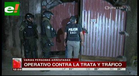 81 personas arrestadas en operativo contra Trata y Tráfico