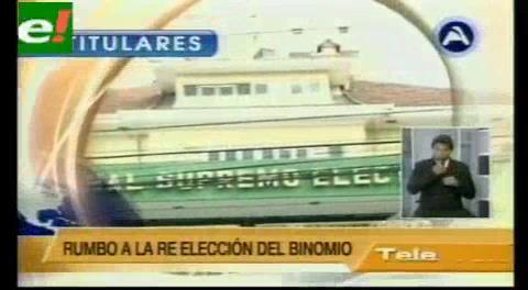 Titulares de TV: TSE se pronunciará mañana sobre la pregunta del Referéndum
