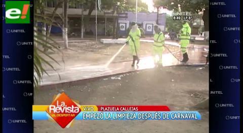 Empieza la limpieza en el Casco Viejo luego del carnaval