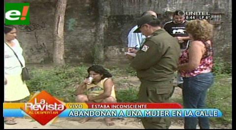 Encuentran mujer inconsciente en la calle