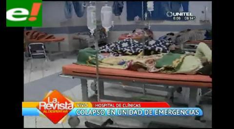 Intoxicados colapsaron emergencias del Hospital de Clínicas el fin de semana
