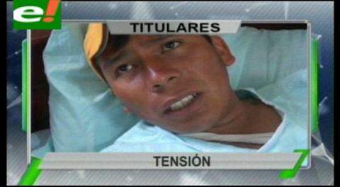 Titulares de TV: Enfrentamientos entre policías y campesinos en Oruro