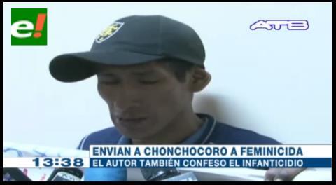Envían feminicida a Chonchocoro