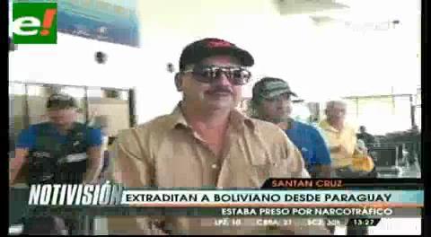 Paraguay extradita a boliviano encarcelado por tráfico de cocaína