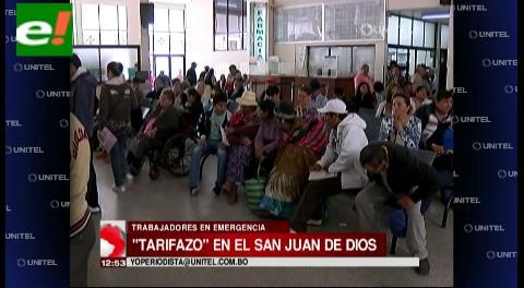 Funcionarios del San Juan de Dios denuncian fuerte subida de tarifas