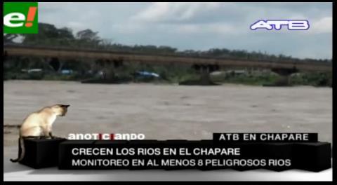 Declaran alerta naranja por la crecida de los ríos en el Chapare