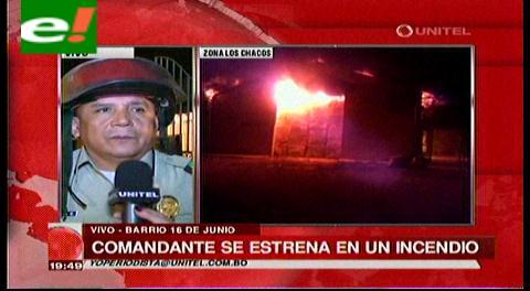 Comandante de la policía se estrena con un incendio
