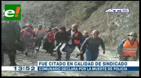 Comunario de Tacacoma declara por la muerte de policía en la mina de Ananea