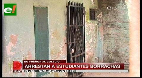 Arrestan menores estudiantes en estado de ebriedad