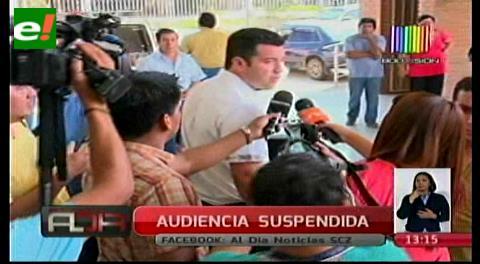 Se suspende audiencia cautelar del alcalde de Portachuelo