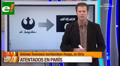 """""""La mañana"""" de TVE confunde un logo de """"Star Wars"""" con uno de Al Qaeda"""