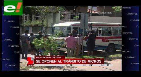 En el Barrio Cooper se oponen al tránsito de micros y trufis