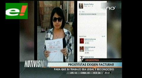 Prostitutas argentinas exigen poder emitir facturas