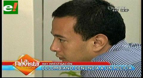 Colombiano denuncia extorsión de parte de la policía