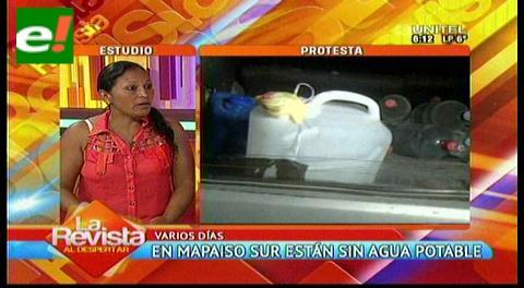 Mapaiso Sur continúa sin agua potable