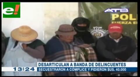 7 detenidos acusados por secuestro