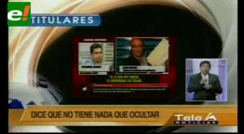 Titulares de TV: Ex viceministro Pérez confirma que es su voz y que no tiene nada que ocultar