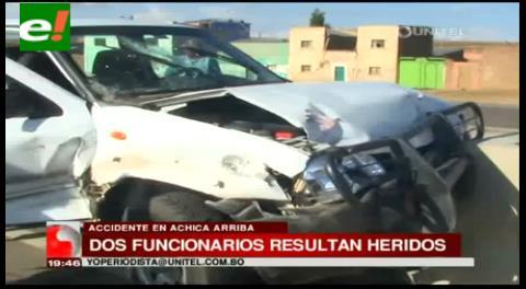 Accidente vehícular en carretera La Paz – Oruro deja dos heridos