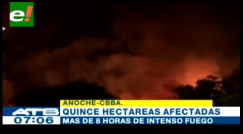 Cochabamba. Voraz incendio devora pajonales y totorales de la laguna Alalay