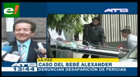Abogado denuncia la desaparición de pericias del caso bebé Alexander