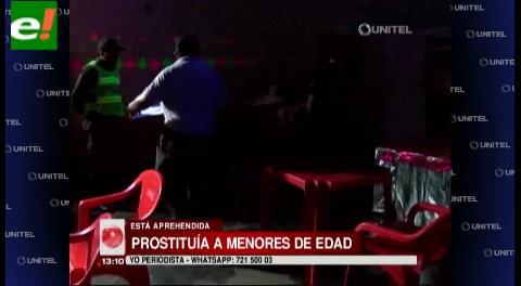 Dueña de lenocinio en Warnes prostituía menores