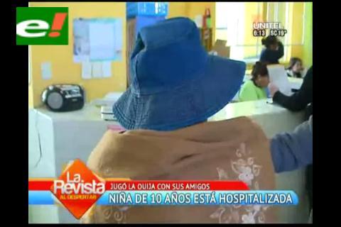 """Niña sufre convulsiones al jugar """"Ouija"""""""