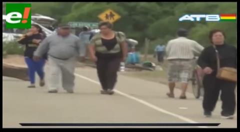Comunarios bloquean en Yacuiba exigiendo la construcción de una represa