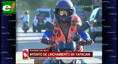 Intento de linchamiento en Yapacaní
