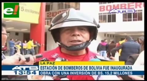 La Paz estrena una moderna estación de bomberos