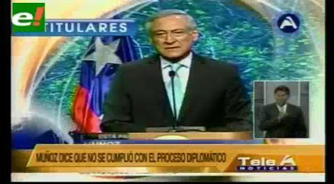 Titulares de TV: Chile acusa a Bolivia de montar una campaña de propaganda en su territorio