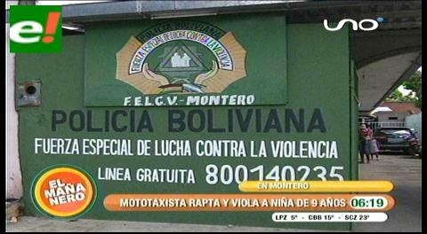 Buscan a mototaxista acusado de raptar y violar a menor de 9 años