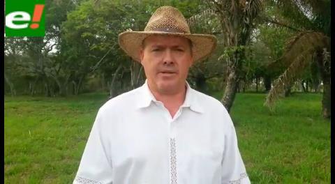 Productores agropecuarios se manifiestan por el NO en Santa Cruz