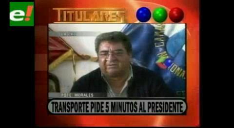 Titulares de TV: Transporte pide 5 minutos al Presidente para poner fin al bloqueo