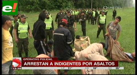 Arrestan a indigentes por asaltos
