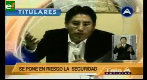 Titulares de TV: Gobernador de La Paz critica la despenalización del uso de dinamita en marchas de protesta