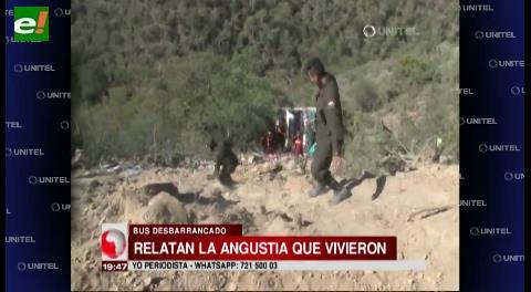 Pasajeros relatan la desesperación que vivieron en accidente en Comarapa