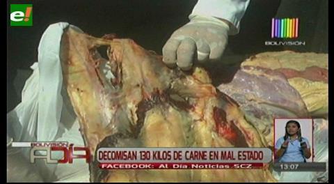 Decomisan 136 kilos de carne en mal estado
