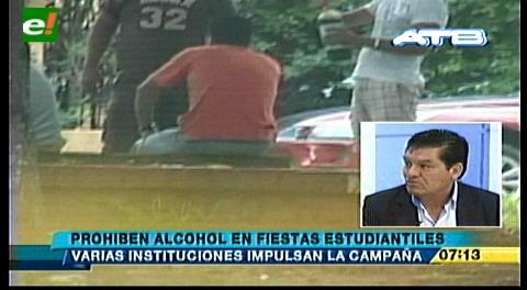 Prohíben alcohol en fiestas estudiantiles