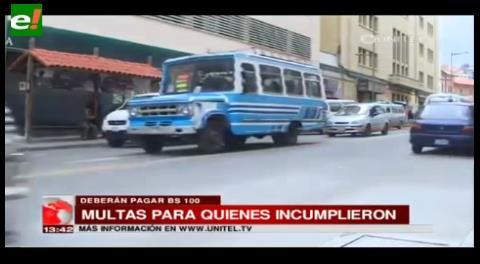 La Paz. Alcaldía multará a los choferes que no arreglen sus minibuses