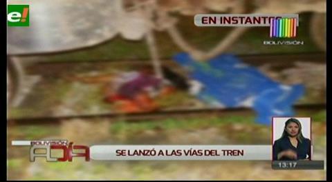 Mujer muere arrollada por un tren