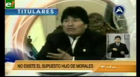 Titulares de TV: Juez declaró improbada la demanda de Morales por inexistencia física del niño